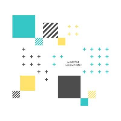 Carta da parati Illustrazione vettoriale colorato geometrico isometrico astratto
