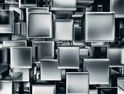Carta da parati immagine astratta di cubi di metallo sfondo