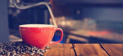 Carta da parati Immagine composita di bianco tazza di caffè