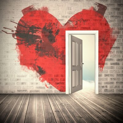 Carta da parati Immagine composita di cuore