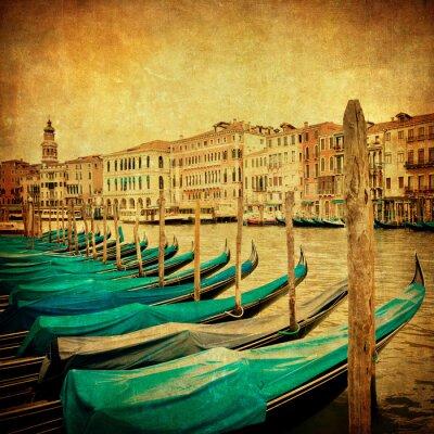 Carta da parati Immagine d'epoca di Canal Grande, Venezia