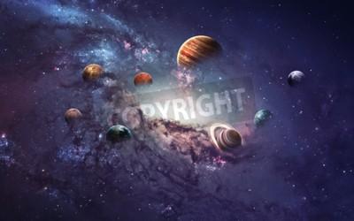 Carta da parati Immagini ad alta risoluzione presenta creare pianeti del sistema solare.