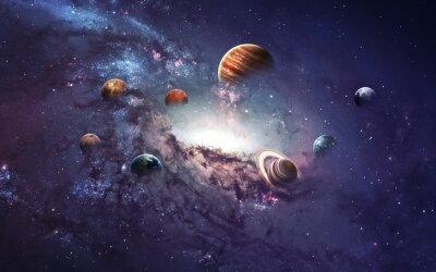 Carta da parati Immagini ad alta risoluzione presenta creare pianeti del sistema solare. Questi elementi immagine fornita dalla NASA