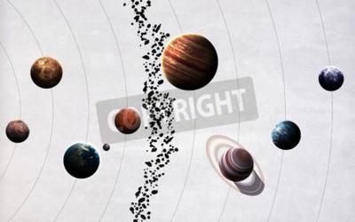 Carta da parati immagini ad alta risoluzione presenta pianeti del sistema solare.