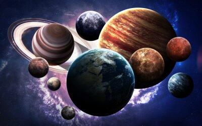 Carta da parati immagini ad alta risoluzione presenta pianeti del sistema solare. Questi elementi immagine fornita dalla NASA