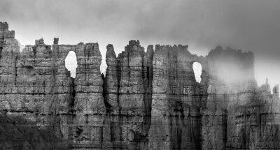 Carta da parati In bianco e nero di Bryce Canyon