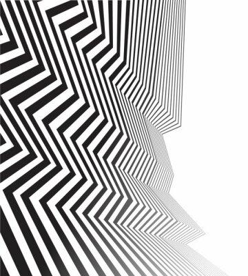 Carta da parati in bianco e nero striscia onda mobious ottica disegno astratto