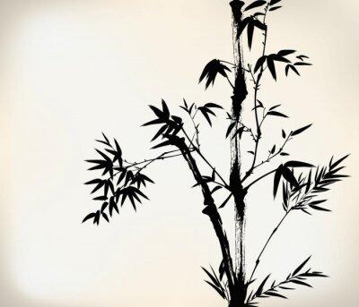 Carta da parati inchiostro bambù verniciato