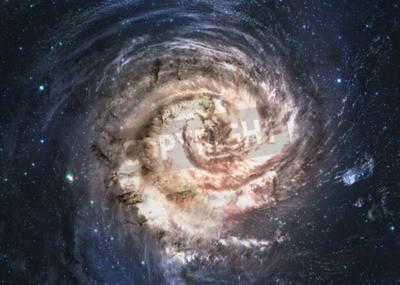 Carta da parati Incredibilmente bella galassia a spirale da qualche parte nello spazio profondo.