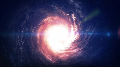 Carta da parati Incredibilmente bella galassia a spirale da qualche parte nello spazio profondo. Elementi di questa immagine fornita dalla NASA