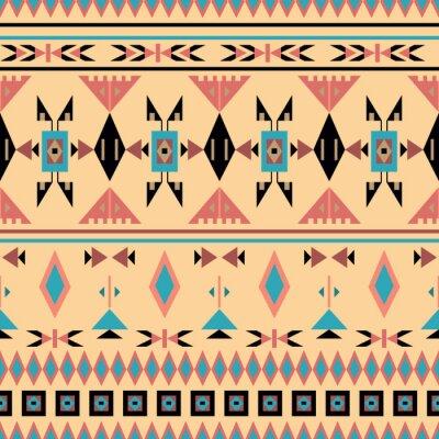 Carta da parati Indiani d'America, seamless, illustrazione vettoriale