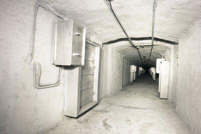 Carta da parati industriale interni del tunnel sistema vantilation