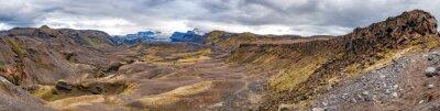 Carta da parati Islanda Landmannalaugar trekking paesaggio selvaggio