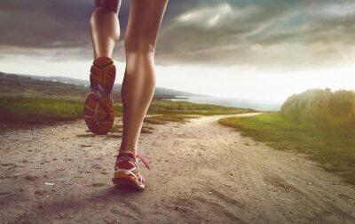 Carta da parati Jogger femminile su strada costiera