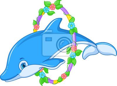 Carta da parati Jumping Dolphin