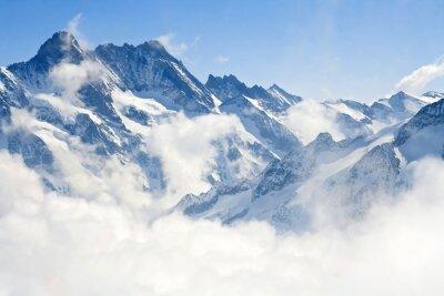 Carta da parati Jungfraujoch Alpi paesaggio di montagna