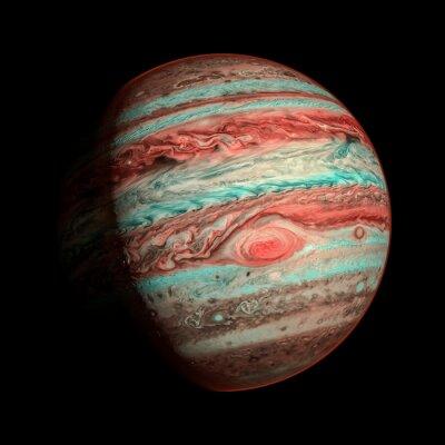 Carta da parati Jupiter isolato pianeta