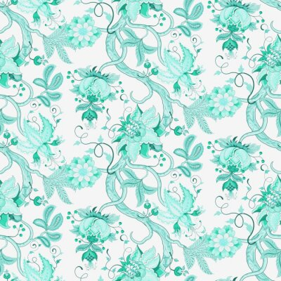 Carta da parati Katherine floreale Seamless Pattern