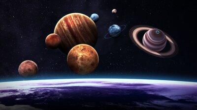 Carta da parati L'alta qualità isolato pianeti del sistema solare. Elementi di questa immagine fornita dalla NASA