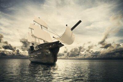 Carta da parati L'antica nave in mare