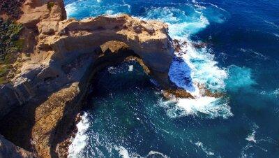 Carta da parati L'Arch. formazione rocciosa lungo la Great Ocean Road, Australia. Aeri