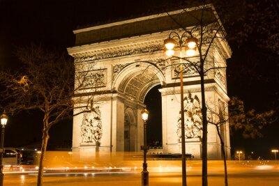 Carta da parati L'Arco di Trionfo di notte, Parigi, Francia.