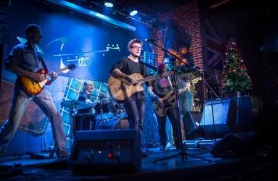Carta da parati La band esegue sul palco, concerto di musica rock