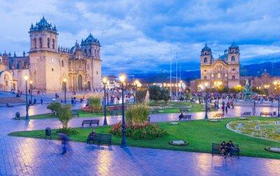 Carta da parati La Cattedrale di Cusco, Perù