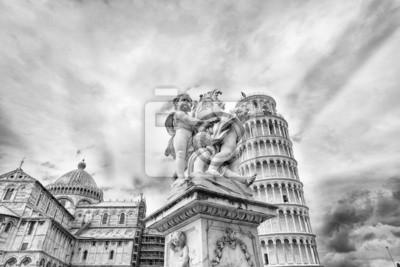 Carta da parati La Cattedrale e la Torre Pendente a Pisa