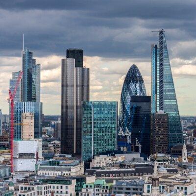 Carta da parati La City di Londra nel pomeriggio