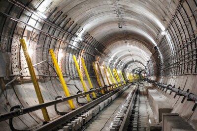 Carta da parati La costruzione del tunnel della metropolitana