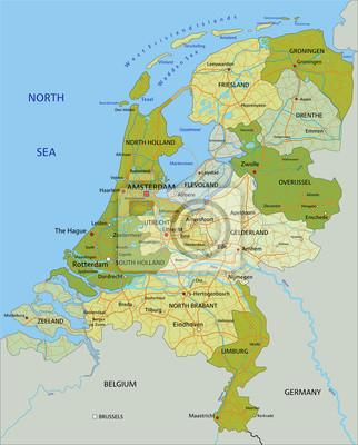 Cartina Olanda Politica.La Mappa Politica Modificabile Altamente Dettagliata Con Strati Carta Da Parati Carte Da Parati Groningen Benelux Mappatura Myloview It