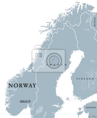 Cartina Politica Norvegia.La Mappa Politica Norvegia Capitale Oslo Bordi E Vicini Nazionali Carta Da Parati Carte Da Parati Nord Europa Oslo Lofoten Myloview It