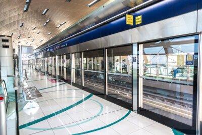 Carta da parati La stazione della metropolitana a Dubai