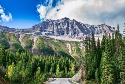 Carta da parati La strada nel parco nazionale Yoho in Canada