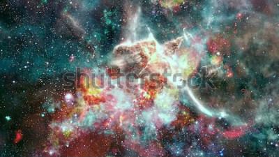 Carta da parati La supernova dell'esplosione. Nebulosa di stelle luminose. Galassia distante Fuochi d'artificio di Capodanno. Immagine astratta. Elementi di questa immagine forniti dalla NASA.