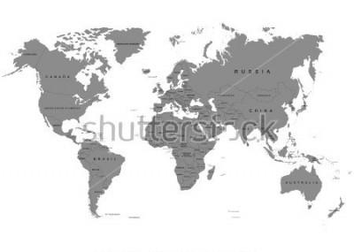 Carta da parati La terra, mappa del mondo su sfondo bianco. Antartide. Illustrazione vettoriale