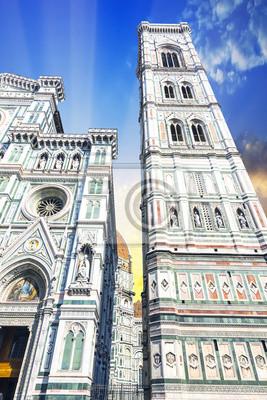 Carta da parati La Torre del Duomo di Firenze