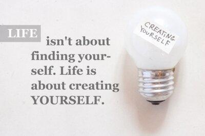 Carta da parati La vita non è di trovare se stessi. La vita è di creare yourse