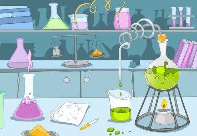 Carta da parati Laboratorio Chimico