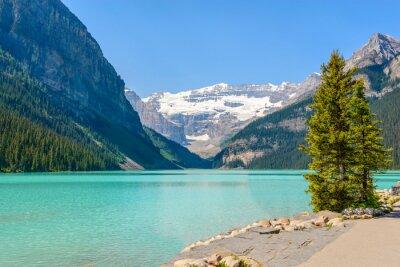 Carta da parati Lago maestoso della montagna in Canada. Louise Vista lago in Banff, Alberta, Canada. Montagne Rocciose.