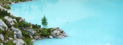 Carta da parati Lago Sorapis, montagna Dolomiti