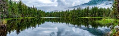 Carta da parati Lago vicino Mendhenall ghiacciaio enorme paesaggio