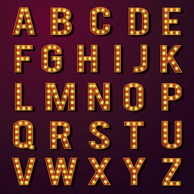 Carta da parati Lampadina Alfabeti Set