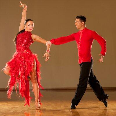 Carta da parati latino ballo di coppia in azione - ballare samba selvaggia