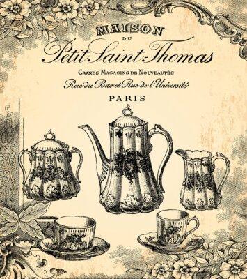Carta da parati Le salon de thé