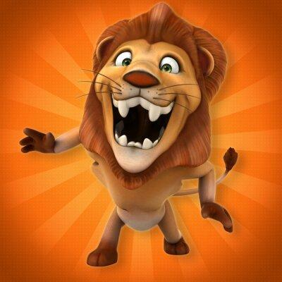 Carta da parati leone Fun