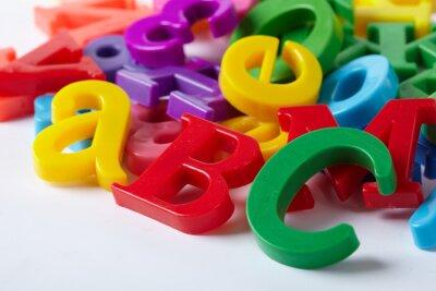 Carta da parati Lettere dell'alfabeto di plastica