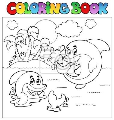 Libro Da Colorare Con I Delfini 2 Carta Da Parati Carte Da Parati