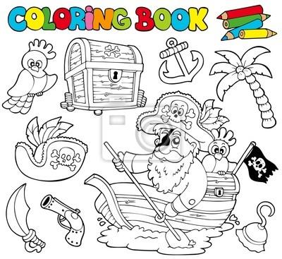 Libro Da Colorare Con I Pirati 1 Carta Da Parati Carte Da Parati